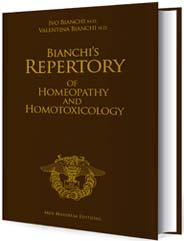 copertina del libro Bianchi's Repertory of Homeopathy and Homotoxicology di Ivo Bianchi